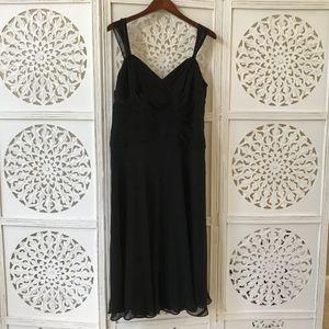 Jones New York 100% Silk Black Dress, NWT!